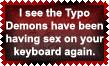 Typo Demons stamp by Leathurkatt-TFTiggy