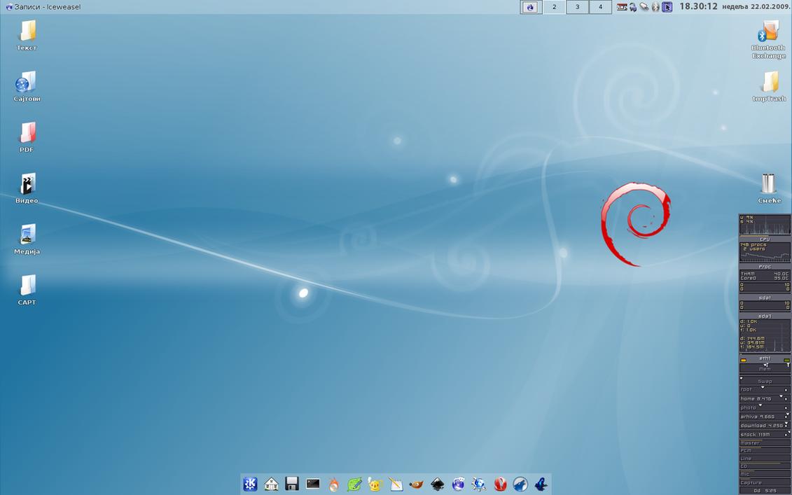 Debian 5.0 Lenny + KDE3