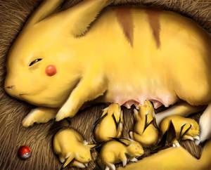 The Momachu -a Pikachu Fanart-