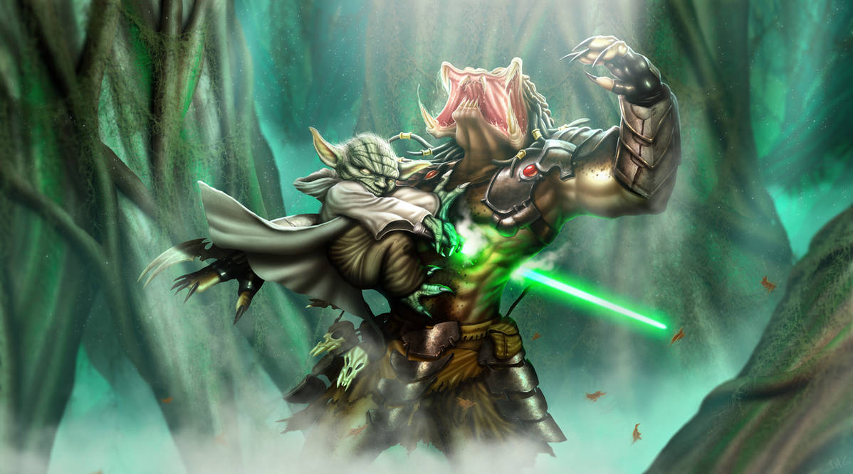 Hunter in Dagobah by Dogsfather