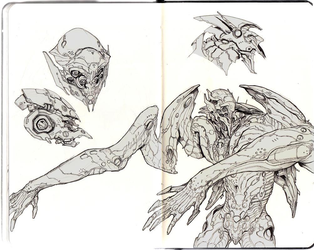 Sketch-bots by Dogsfather
