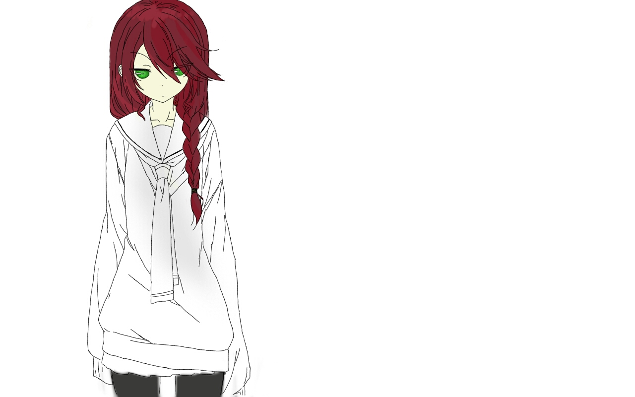 Anime girl with red hair and green eyes by snowfern2001 on ...