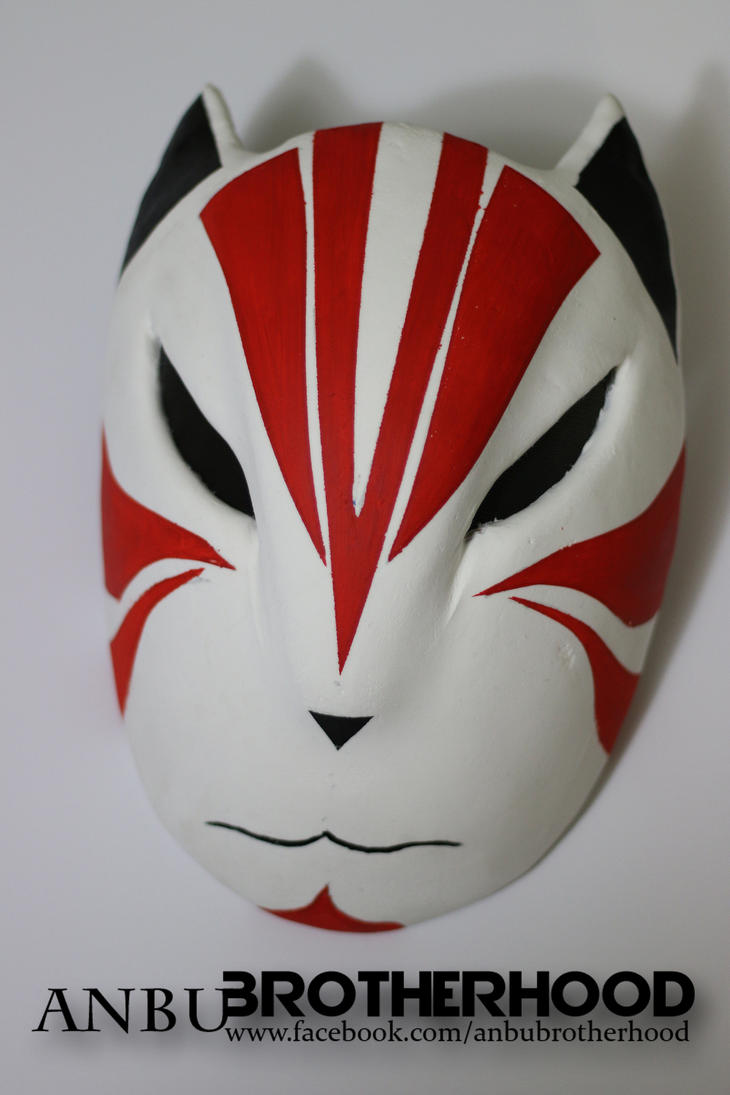 ANBU Fox red mask by logikhandtheory on deviantART