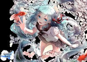 [ YUK ] Render Hatsune Miku by SAYA-Team