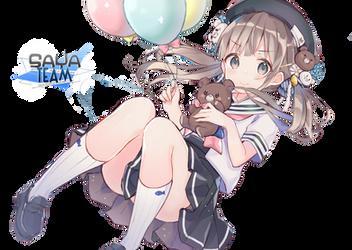 [Nao] Anime Girl Sailor Uniform Render