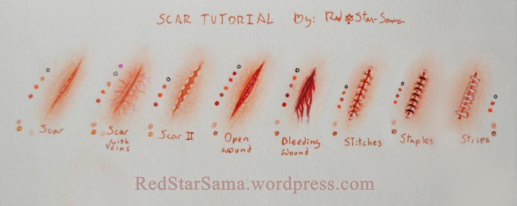 Tutorial de Cicatrices by RedStar-Sama