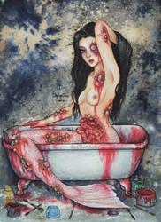 Mermaid in a Manhole by RedStar-Sama