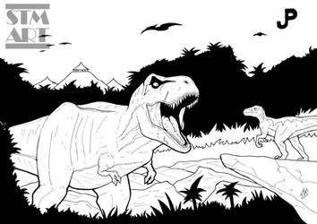 Inking: Jurassic Park by ShaunTM