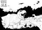 Inking: Jurassic Park