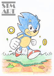 Quick Ink and Color: Classic Sonic the Hedgehog by ShaunTM