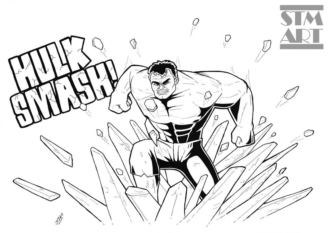Inking: Hulk Smash! by ShaunTM