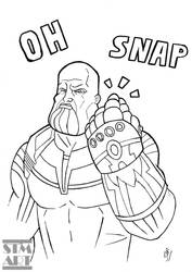 Quick Ink: The Thanos Snap by ShaunTM