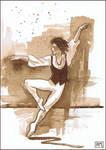 Ballet Dancer in Sepia by Leochi