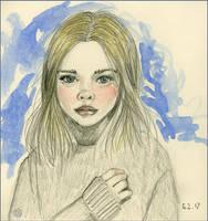Girl Sketch by Leochi