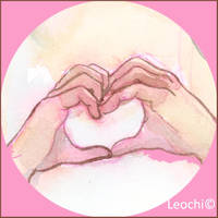 Heart Hands by Leochi