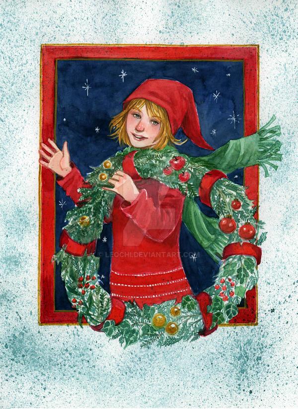Christmas Elf by Leochi