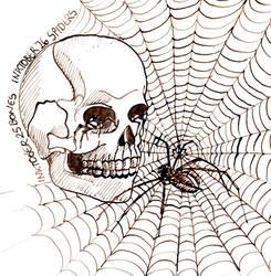 inktober 25 Bones 26 Spider by Leochi