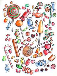 Inktober 31 Candy by Leochi