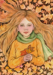 Golden Autumn Girl