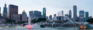 Panorama Chicago Buckingham Fountain