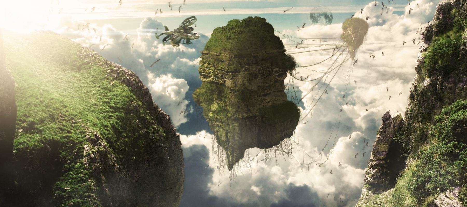 From avatar holly mountains digital matte paintig and for Matte painting