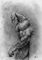 Swamp Monster Sketch by kimgauge