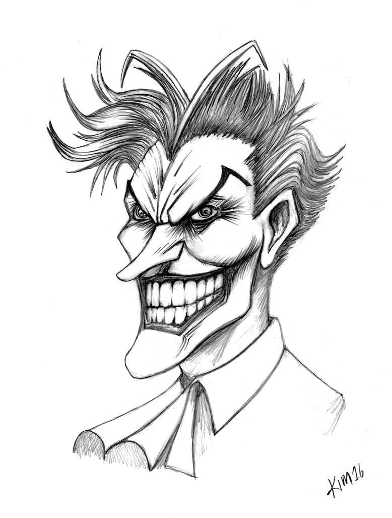Joker Scribble Drawing : The joker by kimgauge on deviantart
