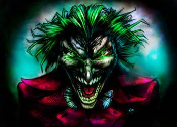 The Joker (colored) by kimgauge
