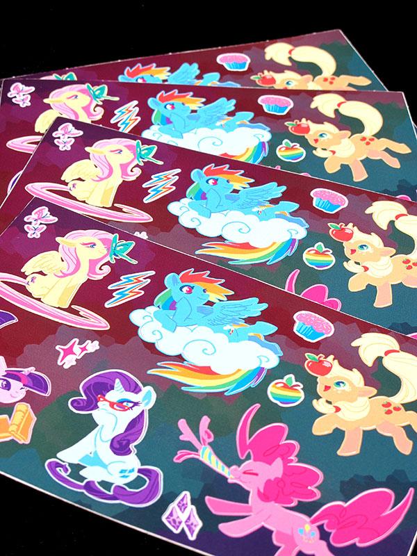Mane Six Stickers by Mamath
