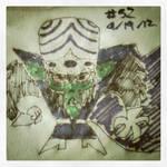 Napkin Art #52 - Mojo Jojo - Powerpuff Girls