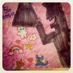 Napkin Art #56 - Sugar Spice and - Powerpuff Girls