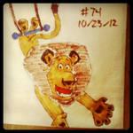 Napkin Art #74 - Trapeze Americano - Madagascar 3