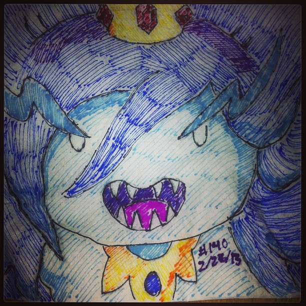 Napkin Art 140 - Ice Queen - Adventure Time by PeterParkerPA