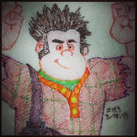 Napkin Art 153 - Wreck-It Ralph - Wreck-It Ralph by PeterParkerPA