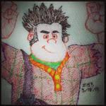Napkin Art 153 - Wreck-It Ralph - Wreck-It Ralph