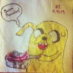 NapkinArt - 002 - Bacon Pancakes - Adventure Time
