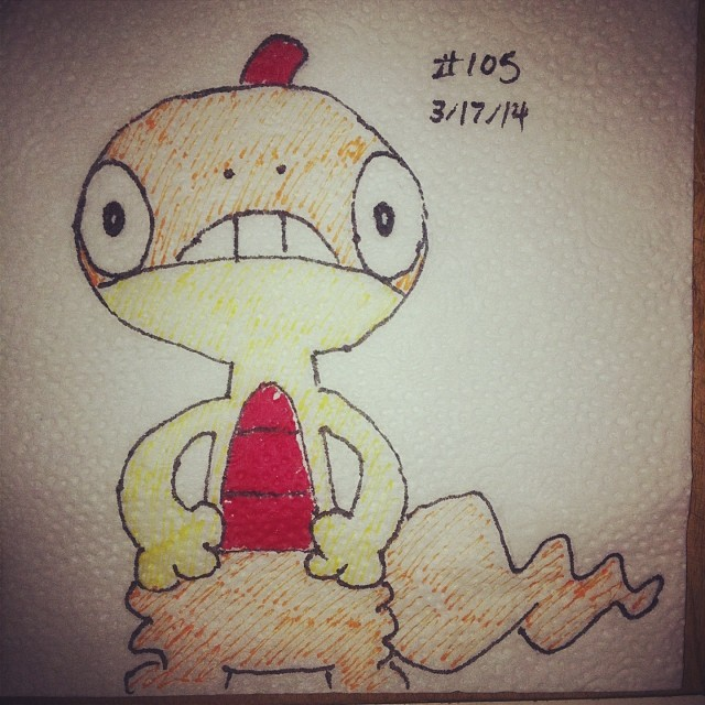 NapkinArt 105 - Scraggy - Pokemon by PeterParkerPA