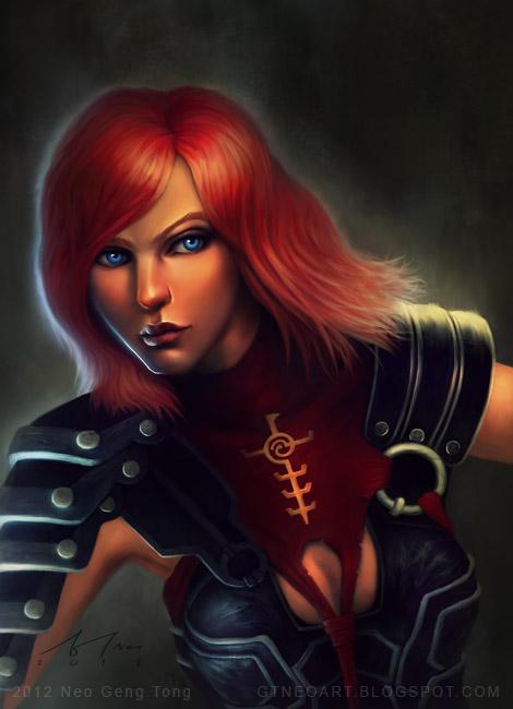 Dragon Age Portrait: Leliana by neonoir