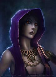 Dragon Age Portrait: Morrigan by gtneoart