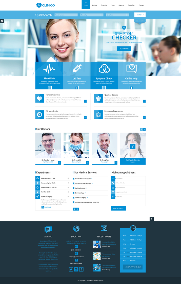 Clinico Medical HTML5/CSS3 Template is ready! by CreativeWS on ...