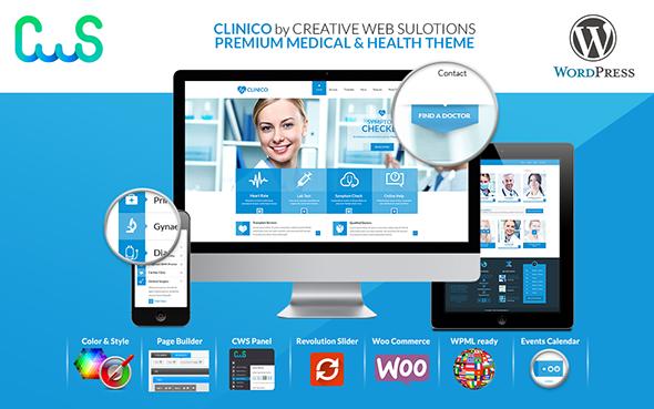 Clinico Wordpress Theme by CreativeWS