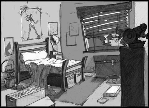 comic book kid room