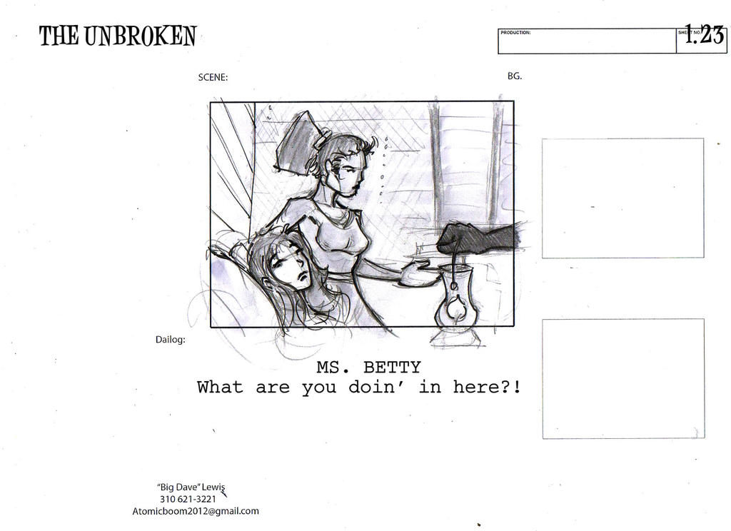 THE UNBROKEN storyboards01-20 by BiggDave