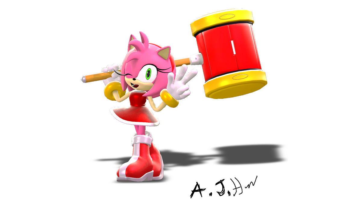 Amy Rose 2 (COLLAB) by Fredbearthe
