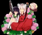 Inuyasha and Higurashi Kagome render