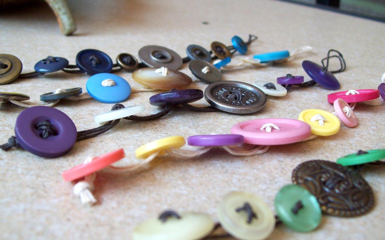 Button bracelets by redcat1887