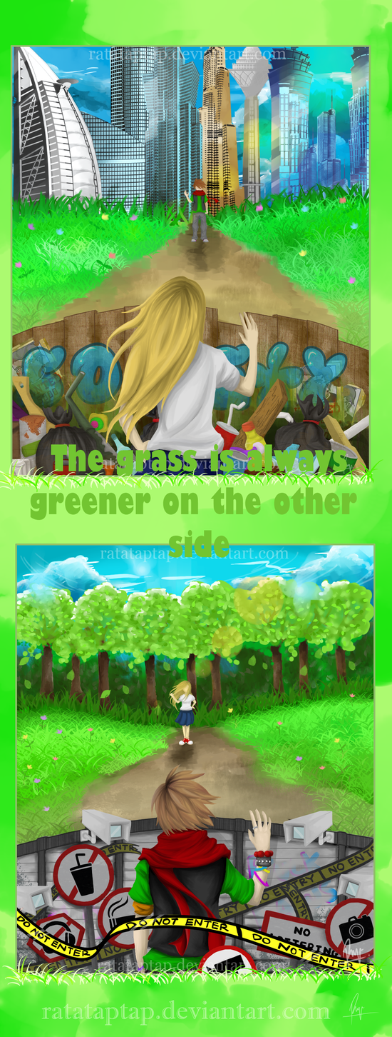 Gras is greener on the other side dating