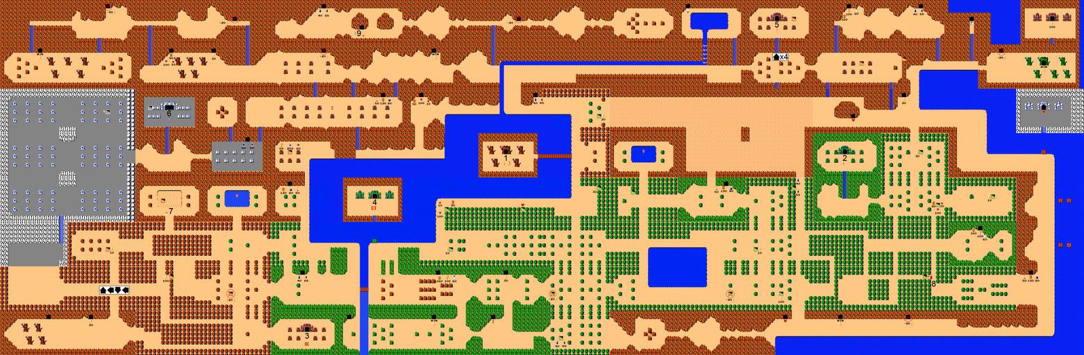 NES Zelda Map by Insider1138 on DeviantArt Labyrinth 1986 Wallpaper