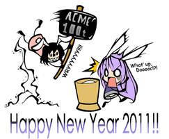 Touhou:Happy New Year 2011 by Diwali86