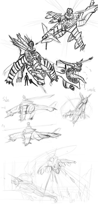 aragami gunship concept (wip) by LucichNorman